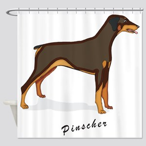 dobie-standing Shower Curtain